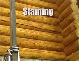 Log Home Staining  Carroll County, Ohio